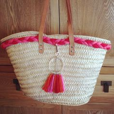 Ethnic straw bag/ capazo étnico/ Panier etnique/ beach tote/ Ibiza Bag / cesta/ basket