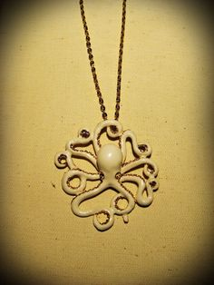 The White Octopus Necklace - $24