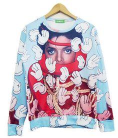 2015 Harejuku Nutella beef crocodile/girl cat/Food Funny 3D Print cartoon Sweatshirt Plus Size Galaxy Hoodies feminino moletom