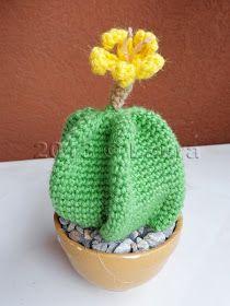 """Tutti i cactus sono lavorati con lana e uncinetto 3.              Ho letto di questo cactus nel gruppo """"AMIGURUMI MANIA"""" su Facebook . ..."""