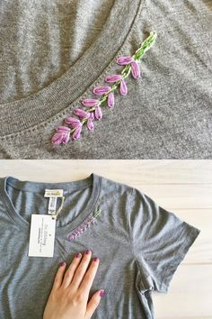 "ambedu: "" sosuperawesome: "" Hand Embroidered T-Shirts by Carrie Fahl, of Cee Stitchery on Etsy See our 'embroidery' tag Follow So Super Awesome: Blog • Instagram • Facebook • Pinterest "" I love..."