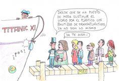 ¿Botadura... sin vidrio? Humor ambiental por May