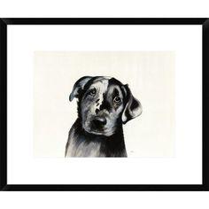 "East Urban Home 'Cowboy' Print Format: Tribeca Black Framed, Matte Color: Bright White, Size: 19.5"" H x 23.5"" W"