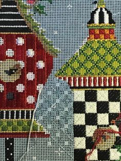 Needlepoint Stitches, Needlepoint Canvases, Needlework, Bargello, Poinsettia, Needle Felting, Embellishments, Buildings, Crafting