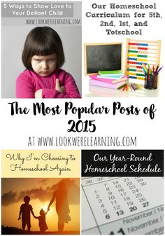 2015 was a great year at Look! We're Learning! Here are our top 10 posts from this year!