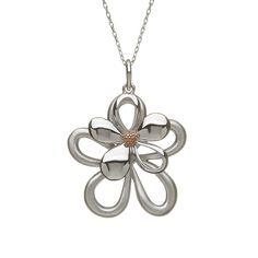 Double Petal pendant #houseoflor #irishjewelry #irishgold #pendant #sterlingsilver #rosegold