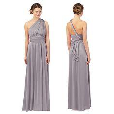 Debut Light grey multiway evening dress- | Debenhams