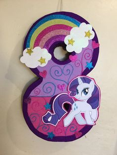 My little pony Pinata, inspired. my little pony birthday Party. My little pony Party supplies, pony Pinata. My Little Pony Pinata, Cumple My Little Pony, My Little Pony Birthday Party, Birthday Parties, Rainbow Pinata, Rainbow Birthday, Martini, Happy Party, Party Planning