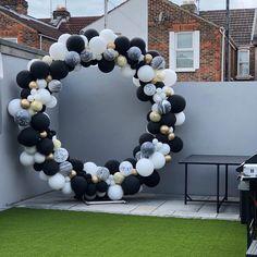 Balloon Columns, Balloon Arch, Balloon Garland, 21st Party, Birthday Parties, Men Birthday, Birthday Gifts, Happy Birthday, Birthday Balloon Decorations