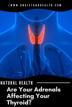 Natural Health: Are your Adrenals affecting your Thyroid? Could your fatigue be adrenal fatigue before it affected the thyroid? Treatments are different. If you want more energy here's how to test the adrenals. //OnDietandHealth.com Adrenal Glands, Adrenal Fatigue, Adrenal Health, Natural Health, Anatomy, Stress, Eye, Learning