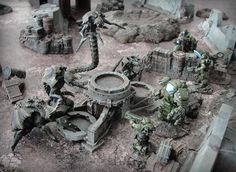 Meanwhile, on the battlefield #game #puppetswar #terrain #miniatures #hobby #wargaming #figures #28mm #scale