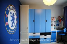 Chelsea Football Bedroom Makeover A Winner!