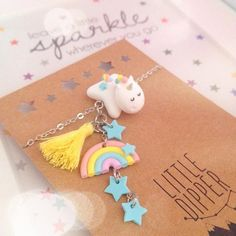 •Handmade polymer clay jewelry @littledipperclay #unicorn #rainb...Instagram photo | Websta (Webstagram)