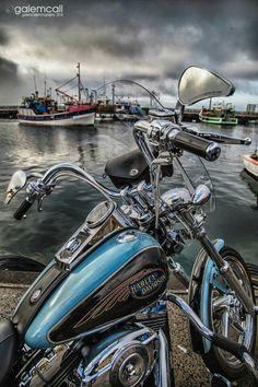 Harley Davidson at Kalk bay .. by #galemcall photography