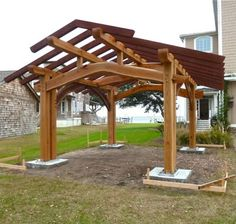 Construct an outdoor pavilion for your home or business.