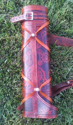 Custom Ranger Quiver with Steampunk Theme from http://rasherquivers.com/  (FRONT VIEW)