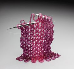 Knit glass sculptures by Carol Milne