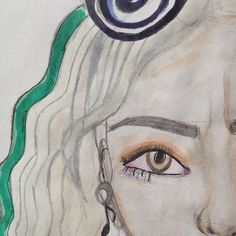Муза сумасшедшего гения ~ Теперь и я в Amino😊 #art🎨 #sketchbook #girl #blonde #amino #virink #followforfollow #vogue