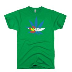 COLORADO MARIJUANA LEAF FLAG T SHIRT