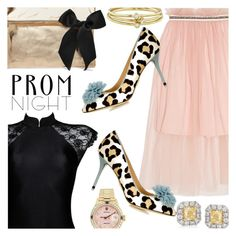 """""""Prom Night Glam"""" by stacey-lynne on Polyvore featuring Mother of Pearl, Gregg Ruth, Rolex, Charlotte Olympia, Clare V. and Jennifer Meyer Jewelry"""