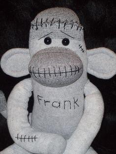 Frankenstein Monster Sock Monkey. $25.00