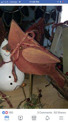 Cardinals on Barnwood Christmas Wood Crafts, Primitive Christmas, Rustic Christmas, Christmas Projects, Holiday Crafts, Christmas Crafts, Christmas Christmas, Primitive Snowmen, Father Christmas