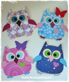 Heike`s kreative Seiten - New Ideas Scarecrow Crafts, Ghost Crafts, Owl Crafts, Craft Stick Crafts, Kids Crafts, Paper Crafts, Fall Crafts For Toddlers, Easy Fall Crafts, Halloween Crafts For Kids