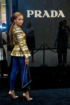 Bonang Matheba x Prada, South Afrika Classy Casual, Classy Outfits, Casual Outfits, Cute Outfits, Fashion Outfits, African Women, African Fashion, Fashion Women, Black Actresses