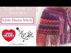Little Hearts Stitch Pattern | Red Heart