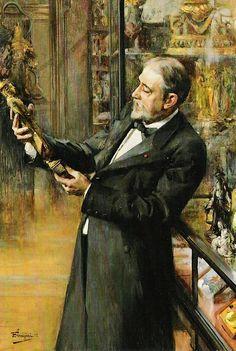 Guimet in his museum, by Ferdinand Jean Luigini 1898.