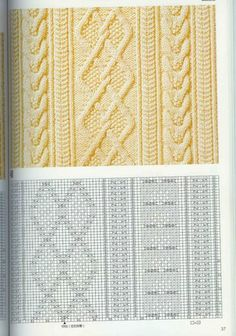 patterns with knitting needles. Discussion on LiveInternet - Russian Online Diaries Service Ladies Cardigan Knitting Patterns, Knitted Dishcloth Patterns Free, Cable Knitting Patterns, Knitting Stiches, Knitting Charts, Lace Knitting, Knitting Designs, Knit Patterns, Stitch Patterns