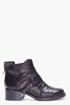 GIVENCHY Black Multi Band Boots