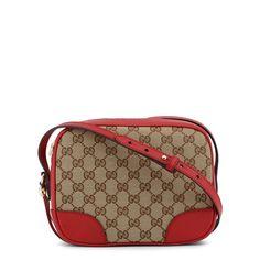 513b46d2c Gucci Original Canvas 'GG' Red- Beige Crossbody/ Shoulder Bag 449413