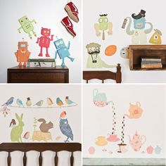 Cute wall paintings for kids rooms @k