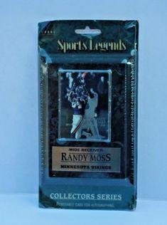 Sports Legends Plaque Minnesota Vikings Randy Moss Wide Receiver card New sealed #Global #MinnesotaVikings