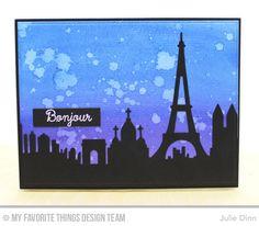 Bonjour Card by Julie Dinn