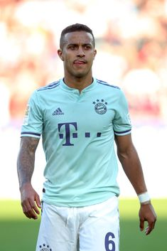 Thiago Alcantara of FC Bayern Muenchen looks dejected after the Bundesliga match between Sport-Club Freiburg and FC Bayern Muenchen at Schwarzwald-Stadion on March 2019 in Freiburg im Breisgau,. Get premium, high resolution news photos at Getty Images Fc Bayern Munich, Fifa 20, Sports Clubs, Liverpool Fc, Soccer Players, Role Models, Polo Ralph Lauren, Mens Tops, Wallpaper