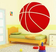 Naklejka dziecięca piłka do koszykówki