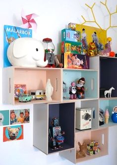 LOVE this idea. Great way to display those items!