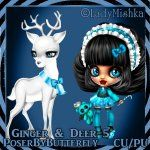 Poser by Butterfly: CU Ginger & Deer 1-5