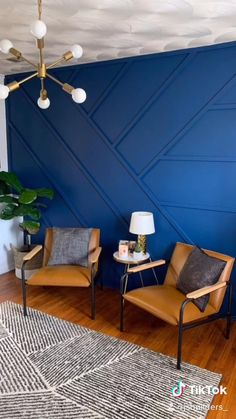 Accent Wall Designs, Bedroom Wall Designs, Wall Decor Design, Decoration Design, Diy Room Decor, Living Room Decor, Bedroom Decor, Home Decor, Home Room Design