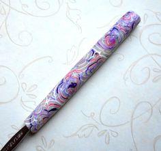 Crochet Hook Polymer Clay Translucent Swirls by NKDesigns on Etsy, $8.00