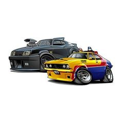 Mad Max Interceptor Engine | Mad Max Interceptor & Police car Pack Wall Graphic Decal