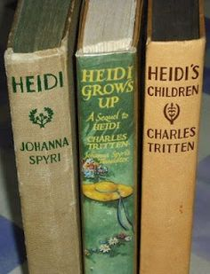 The Heidi books :D Happy memories of childhood - getting lost in these books, these very editions - to escape the less than delightful reality I Love Books, Great Books, Books To Read, My Books, World Of Books, All Nature, Vintage Children's Books, Book Nooks, Illustrations