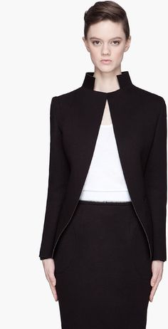 Denis Gagnon ~ Black Jersey Neoprene Jacket