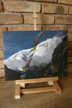 Obraz decoupage jak malowany - himalajski szczyt