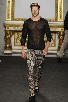 Roccobarocco Men's RTW Spring 2014. These pants are awesome.