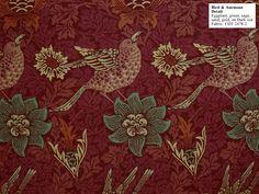 """William Morris Housse de Coussin Rouge Fraise voleur Floral Oiseaux Imprimer Tissu 18/"""""""