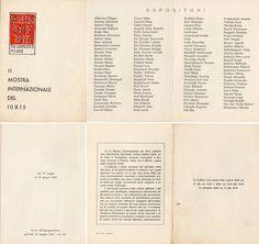 1961 Catalogo Mostra Galleria d'Arte Totti, Milano