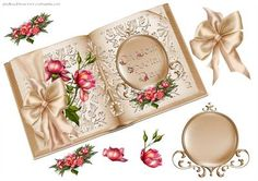 Wedding Book on Craftsuprint designed by Carol Brown - this prints of just great ,created sheet to decoupage,take a moment to look at all my new designs - Now available for download!